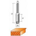 Фреза 1020-Z4 кромочная прямая (обгонная) с нижним подшипником (4 лезвия)