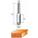 Фреза 1020 кромочная прямая (обгонная) с нижним подшипником (2 лезвия)