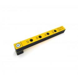 Мебельный кондуктор 25К-5 короткий с шагом 25/50 мм, для присадки под конфирмат (евровинт) с диаметром отверстия 5 мм