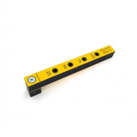 Мебельный кондуктор 25К-5 короткий, для присадки под конфирмат (евровинт) с диаметром отверстия 5 мм