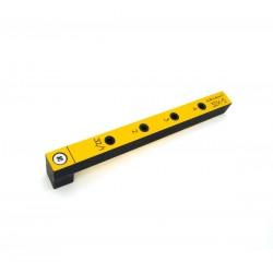 Мебельный кондуктор 32К-5 короткий c шагом 32 мм, для присадки под конфирмат (евровинт) с диаметром отверстия 5 мм