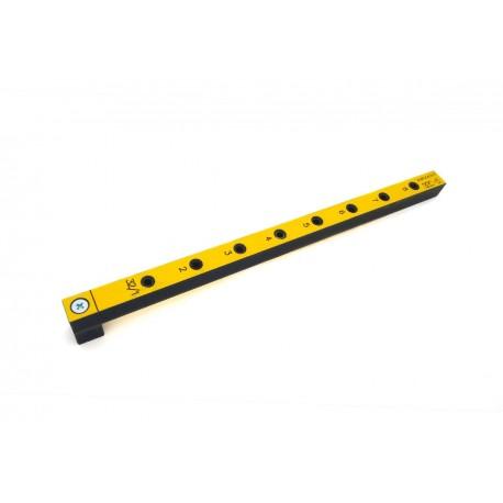 Мебельный кондуктор 32С-5 средний с шагом 32 мм, для присадки под конфирмат (евровинт) с диаметром отверстия 5 мм
