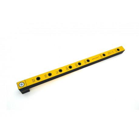 Мебельный кондуктор 25С-5 средний с шагом 25/50 мм, для присадки под конфирмат (евровинт) с диаметром отверстия 5 мм