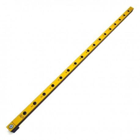 Мебельный кондуктор 32Д-5 длинный c шагом 32 мм, для присадки под конфирмат (евровинт) с диаметром отверстия 5 мм