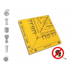 Шаблон ARVANT для разметки мебельных опор РШМО