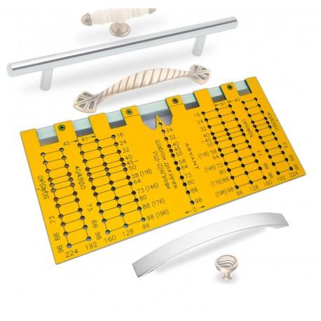 Мебельный шаблон ARVANT для разметки ручек РШ-224Профи фото
