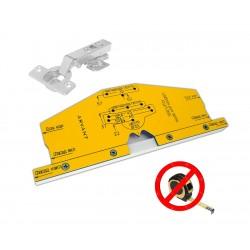 Мебельный шаблон ARVANT для разметки фасадных петель без рулетки РШП-35Б с диаметром чаши петли 35мм фото
