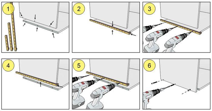 Как пользоваться мебельным кондуктором